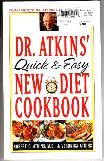 Dr Atkins Quick and Easy New Diet Cookbook 1997 sc