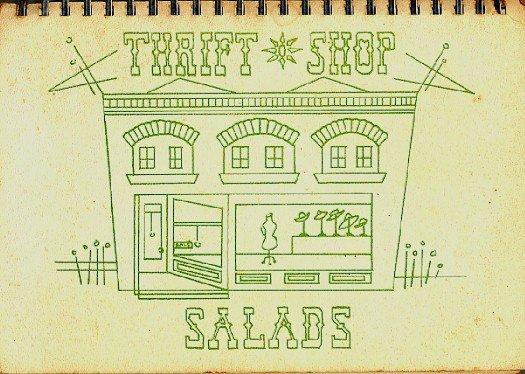 Thrift Shop Salads Cookbook Vintage 1968 Local Fundraising Book