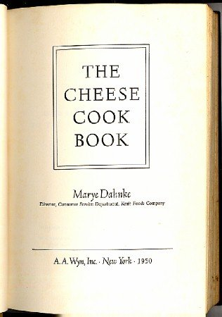 Cheese Cook Book Vintage 1950 Cookbook Kraft Foods