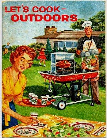 Let's Cook Outdoors, Sears Roebuck Advertising Cookbook Booklet, 1959