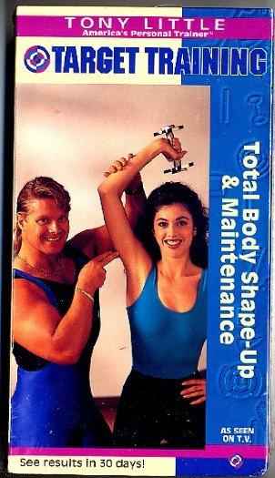 Tony Little Target Training Total Body Shape Up & Maintenance Exercise Video VHS New!