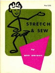 Stretch and Sew Book Ann Person Vintage 1970 Classic Reference for Sewing with Knit Fabrics