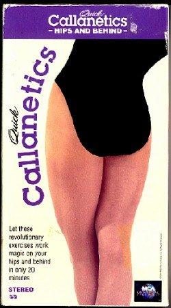 Quick Callanetics Hips and Behind VHS Exercise Video Callan Pinckney Tape