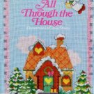 All Through the House Christmas Cross Stitch Xmas Cross-Stitch Vintage 1985 Book