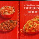Campbell Cooking with Soup Cookbook 1st ed Vintage Red Recipe Book