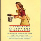 Square Meals A Cookbook by Jane and Michael Stern American Recipes Book hc