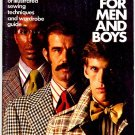 Sewing for Men and Boys Simplicity How To Sew Book Vintage 1973 Mens Fashions Retro 70s