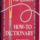 Quilters How To Dictionary Shirer Pocket Quilting Guide Book
