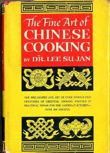 Fine Art of Chinese Cooking Dr Lee Su Jan Vintage 1962 Cookbook hc+dj