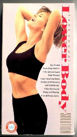 Jane Fonda Lower Body Solution VHS Beginners Exercise Step Workout Video Tape