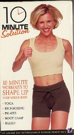 10 Minute Solution 5 Exercise Aerobic Muscle Toning Workouts VHS Video Tape