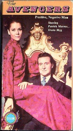 The Avengers TV show Positive Negative Man Patrick Macnee Diana Rigg 60s classic VHS video