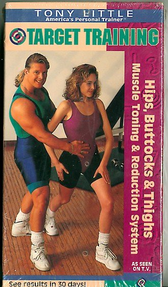 Tony Little Target Training Hips Buttocks Thighs Toning Reduction System Exercise Video VHS NEW