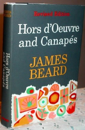 James beard hors d 39 oeuvre and canapes rev ed 1963 hc dj for Canape cookbook