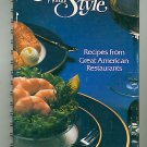 Benson and Hedges Presents Entertaining with Style Recipes from Restaurants Vintage Cookbook