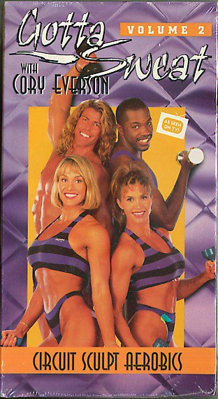 Gotta Sweat with Cory Everson Volume 2 Circuit Sculpt Aerobics VHS Workout Video NEW