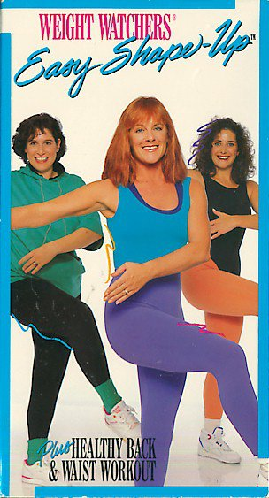 Weight Watchers Easy Shape Up Plus Healthy Back and Waist Workout VHS Exercise Video