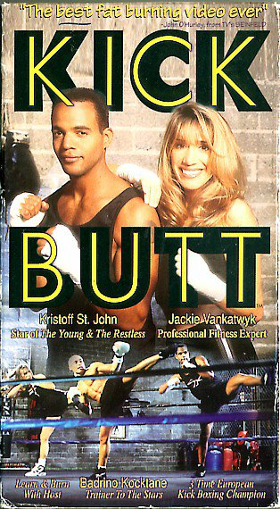 Kick Butt Kickboxing Video Workout Kristoff St John Aerobic Muscle Toning Exercise VHS
