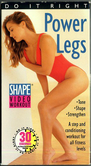 Power Legs Shape Video Workout Step Aerobic Leg Muscle Toning Exercise VHS