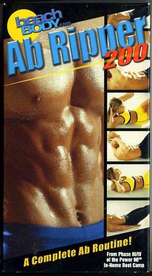 Beach Body Power 90 Ab Ripper 200 Abdomen Stomach Muscle Exercise Video Tony Horton VHS