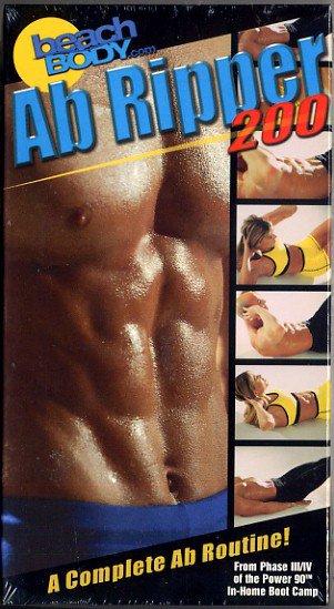 Beach Body Power 90 Ab Ripper 200 Abdomen Muscle Exercise Video Tony Horton VHS New