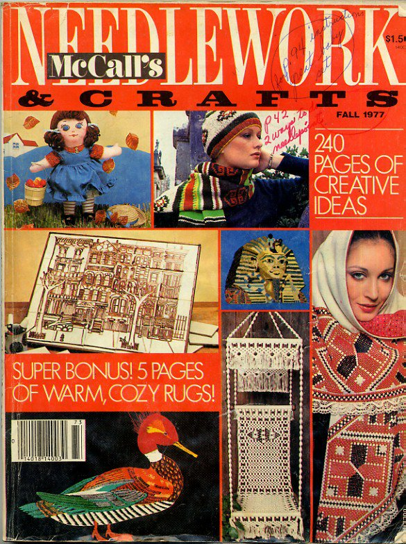 Mccalls Needlework Crafts Vintage Fall 1977 Magazine Knit