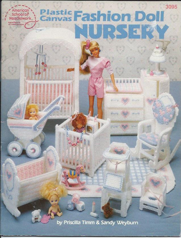 Plastic Canvas Fashion Doll Nursery Asn 3095 Crib Playpen
