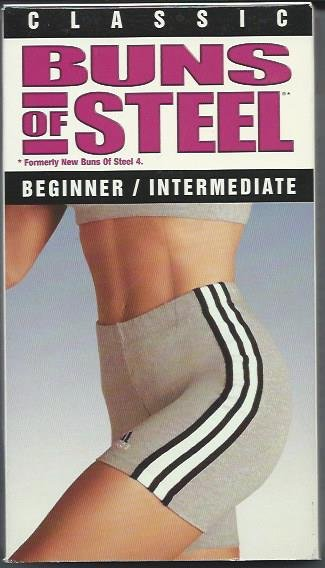 Classic Buns of Steel Beginner Intermediate Leisa Hart Exercise Workout Video VHS Tape