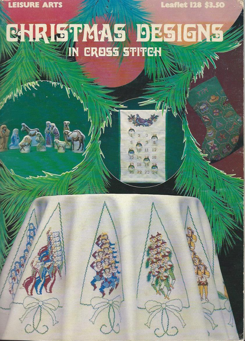 Christmas Designs in Cross Stitch Leisure Arts 128 Vintage Nativity Pattern Book