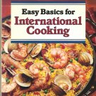 Sunset Easy Basics for International Cooking vintage cookbook hardcover