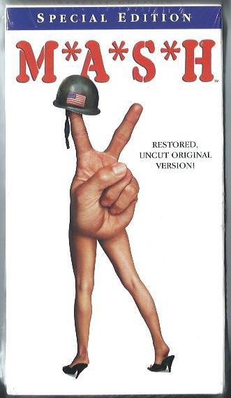 MASH war movie comedy film 1969 Special Edition Restored Uncut Original VHS Video NEW