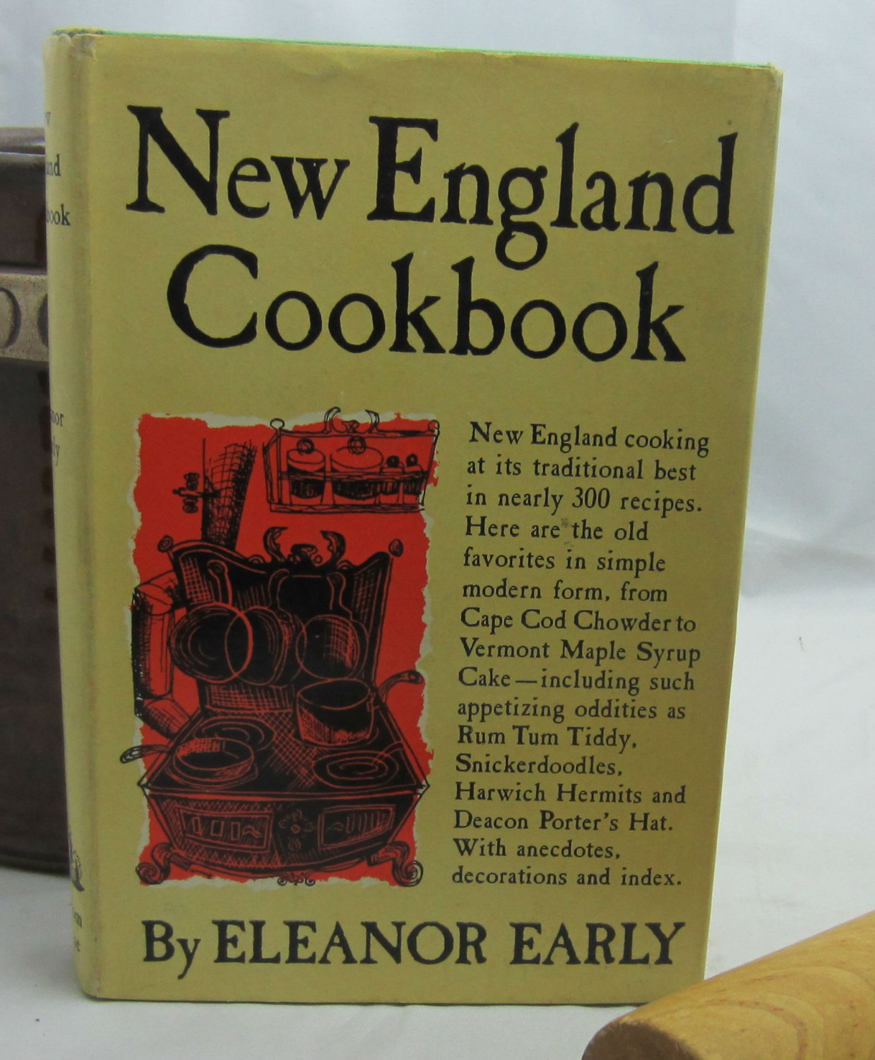 New England Cookbook Eleanor Early Vintage 1954 Cookbook hc+dj
