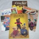 Set of 4 Crochet Pattern Books - Fashion Accessories, Toys, Home Decor