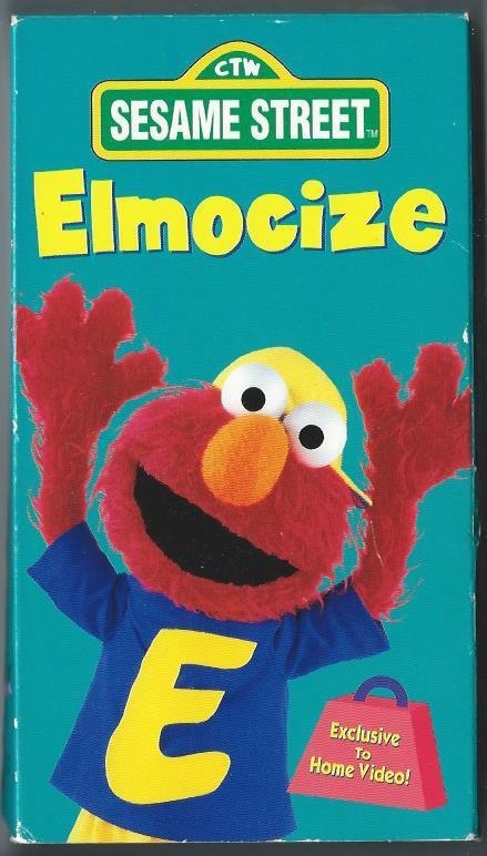 Elmocize Children's Exercise Workout Video Tape VHS Sesame Street Vintage 1996