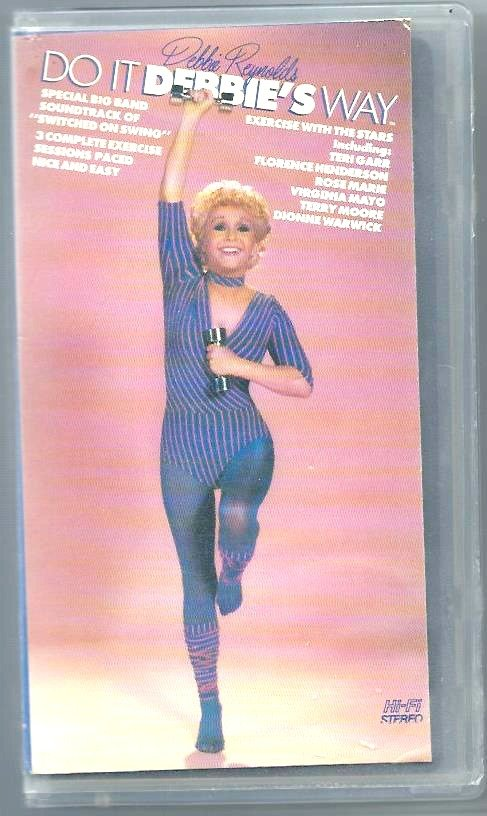 Do It Debbies Way Debbie Reynolds Exercise Workout to Big Band Music Video VHS
