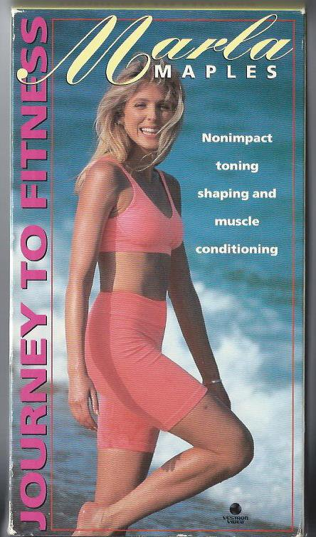 Marla Maples Journey to Fitness Muscle Toning Exercise Video VHS