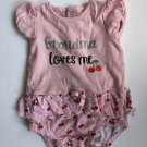 """KOALA BABY SIZE 6-9 MONTHS ROMPER, """"GRANDMA LOVES ME"""", EMBROIDERED, BUTTON SNAPS"""