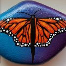 Monarch butterfly on blue blended background