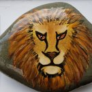 Lion's Head on natural stone background