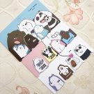 4 pcs/pack We Bare Bears Kawaii Magnet Bookmark Paper Clip School Office Supply Gift Stationery