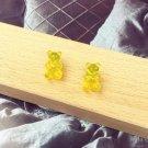 Handmade Yellow Gummy Bear Stud Earring Candy Food Kawaii Cute Japanese Korean Jewelry