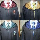 Harry Potter Robe Cape Cloak Cosplay Costume  Griyffindor Slytherin Ravenclaw