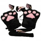 Kawaii Kitten Cat Maid Cosplay Anime Costume Gloves Paw Ear Tail Tie Party