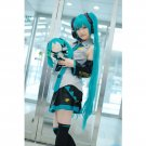 Full Set Vocaloid Hatsune Miku Cosplay Costume Anime Dress Socking Gauntlets Tie Belt