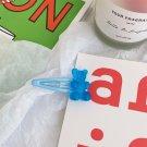 Handmade Blue Gummy Bear Hair Clip Pin Accessories Jewellery Kawaii Cute Candy