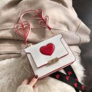 White Love Heart Sweet Handbag Shoulder Bag Crossbody Girl Womens Purses Kawaii Japanese Cute