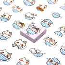 Kawaii Cat Bowl Kitten 32PC Stickers Japanese Stationery School Supplies Scrapbooking Journal