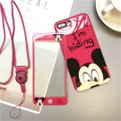 Disney Mickey Mouse iPhone Case With Tempered Glass Screen Protecter Korean Japanese Pastel Harajuku
