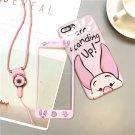 Disney Piglet iPhone Case With Tempered Glass Screen Protecter Korean Japanese Pastel Harajuku