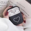 Apple Airpods Black Love Heart Cover Bluetooth Wireless Earphone Japanese Korean Cover Kawaii